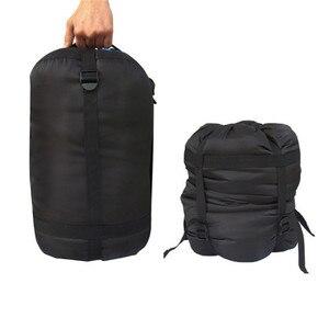 Image 2 - 圧縮睡眠スタッフサック軽量折りたたみアウトドアキャンプハイキング高品質収納パッケージ睡眠袋アクセサリー