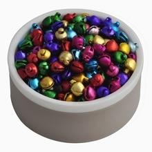 Hot 200Pcs 6*8mm Christmas Bells Loose Beads DIY Jingle Bells DIY Pendants Crafts Handmade Accessories jingle bells