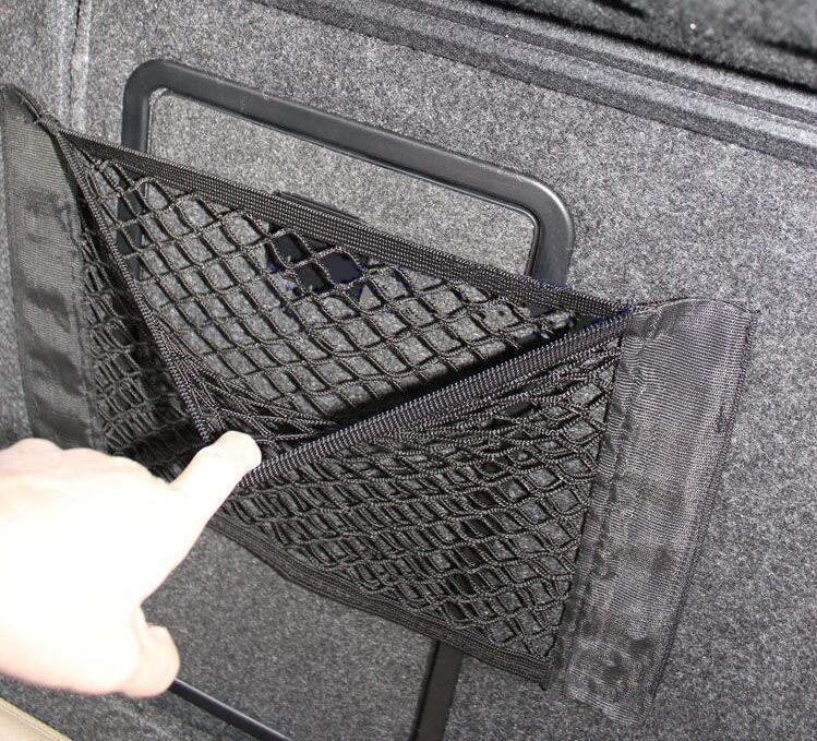 Car Styling New Car Elastic String Net Mesh Storage Bag for Chevrolet Cruze SsangYong Chrysler lifan Mitsubishi ASX Lexus <font><b>Volvo</b></font> image
