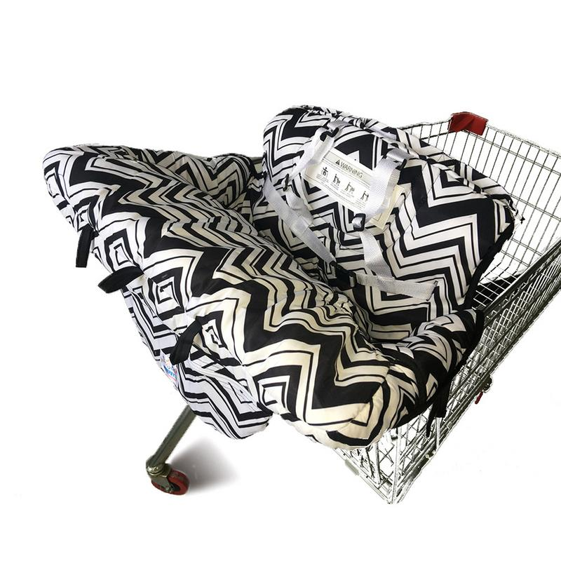 Fortable Black&White Babies Multi-functional Supermarket Shopping Cart Seat Cush