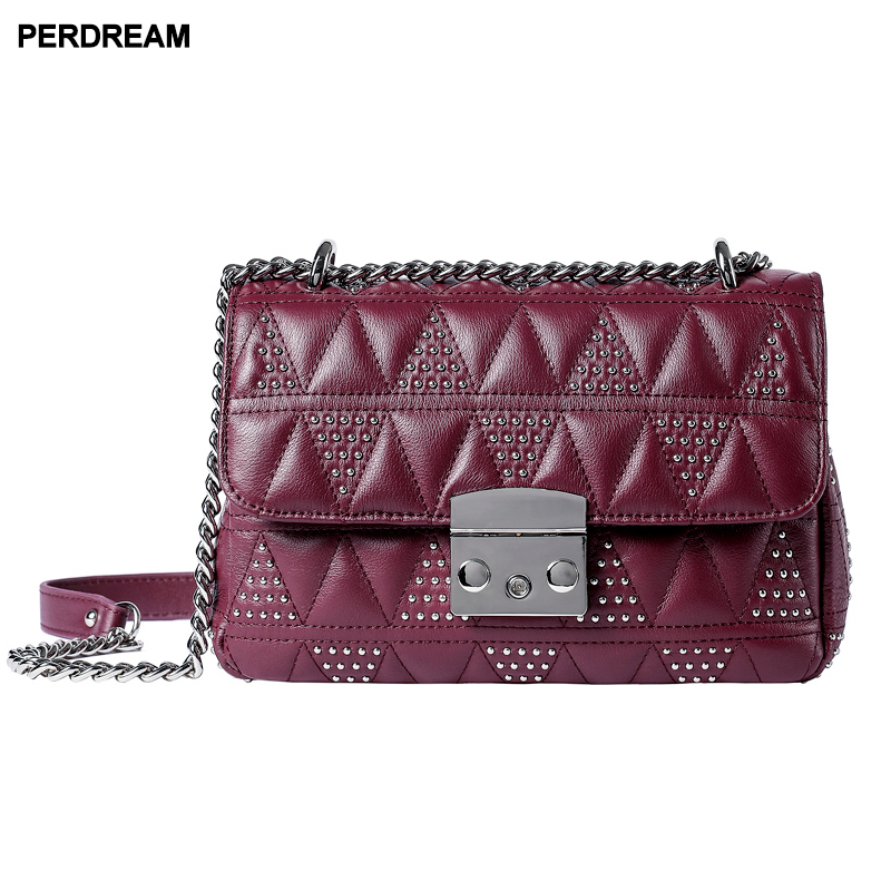 Lingge chains bag women wave Korean style slung wild mini bags shoulder bag rivet leather bags new fashion G11Lingge chains bag women wave Korean style slung wild mini bags shoulder bag rivet leather bags new fashion G11