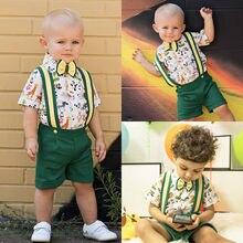 2f4f39d48 Pudcoco niño 6M-5Y EE. UU. De Niño chico Formal traje de Camiseta de  tirantes pantalones cortos trajes conjunto