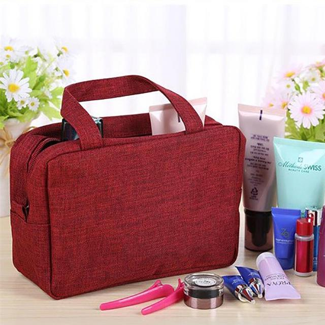 Toiletry Bags Canvas Travel Cosmetic Bag Small Organizer Women Makeup Bag Neceser Make up Case Beauty Storage 2019 Cosmetic Bags