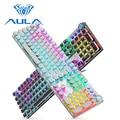 AULA Mechanische Gaming Tastatur Retro Steampunk LED Backlit 104 schlüssel Wasserdicht für PC Computer Laptop Spiel Gamer Kyeboard Tastaturen    -
