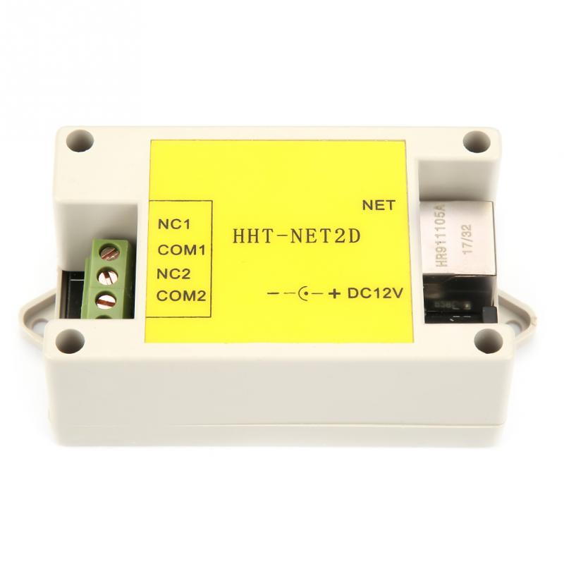 New DC12V 2 Channel Ethernet IP Network Relay Module Internet Watchdog