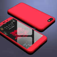 Ударопрочный чехол на 360 градусов для Honor 7a, полное покрытие для Huawei Honor 7A 7 A DUA-L22, 5,45 дюймов, русский чехол с закаленным стеклом