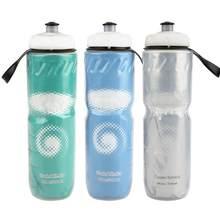 710ml bicicleta garrafa de água ao ar livre dupla camada térmica mantendo esporte garrafa de água quente e fria ciclismo garrafa de água equipamento de ciclismo