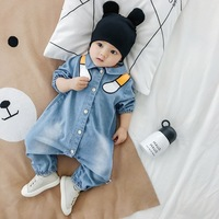 Baby Rompers Jumpsuit for Newborns Denim Romper Long Sleeve Cowboy Fashion Jeans Baby Costume New Born baby onesie spring autumn