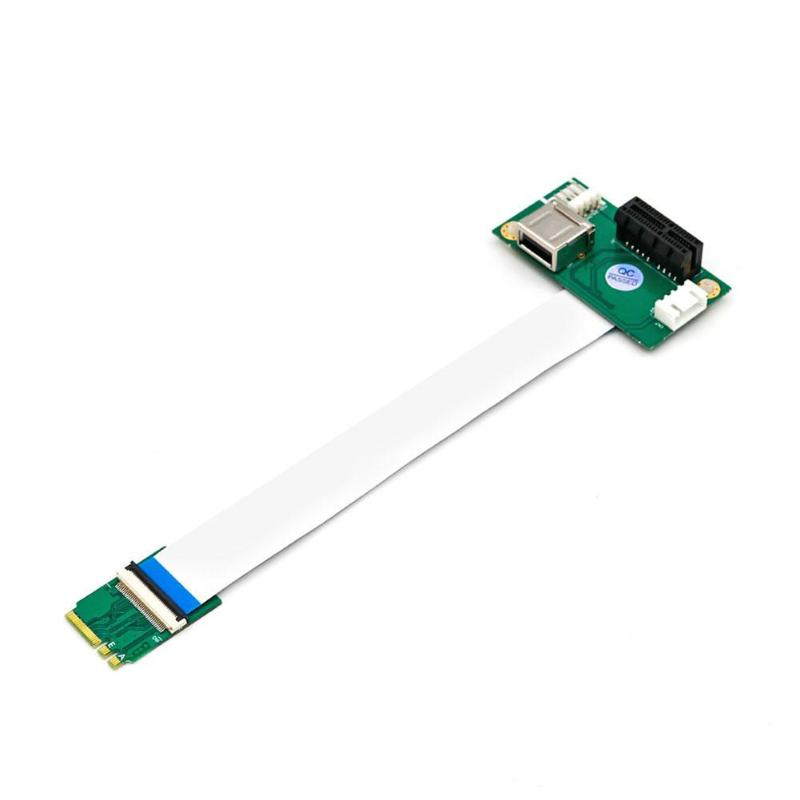 ALLOYSEED NGFF M.2 Key A/E To PCI-E Express X1+USB Adapter Riser Card With FPC Cable