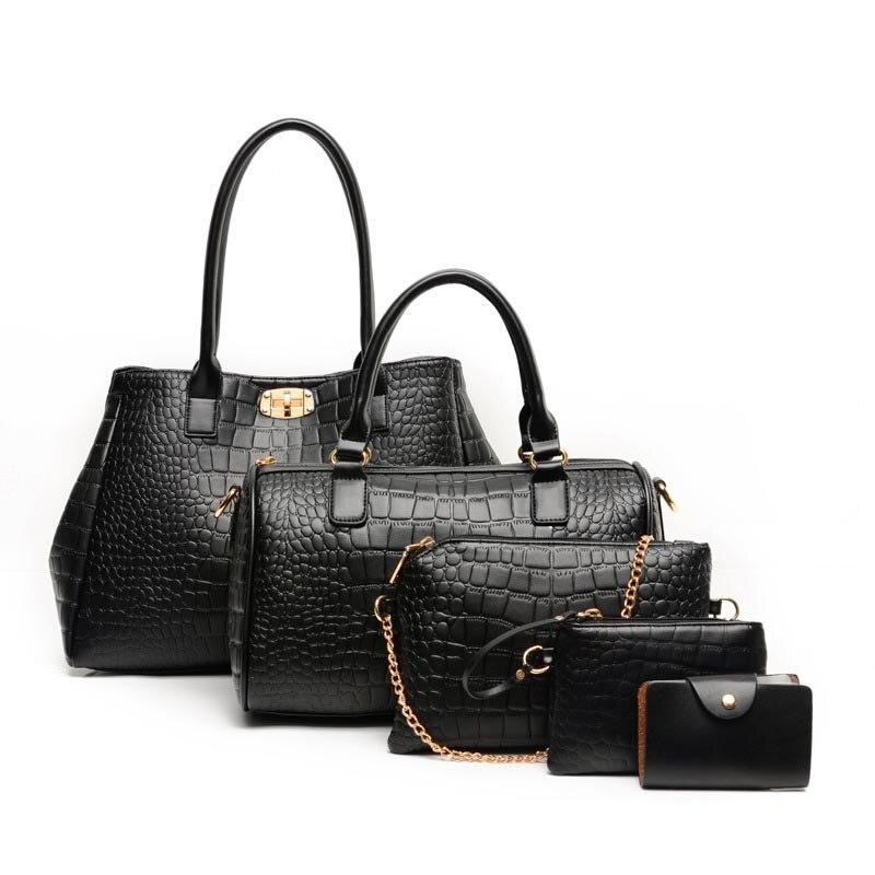 Sacs composites à motif Alligator pour femmes 5 pièces/ensemble sacs à main pour femmes
