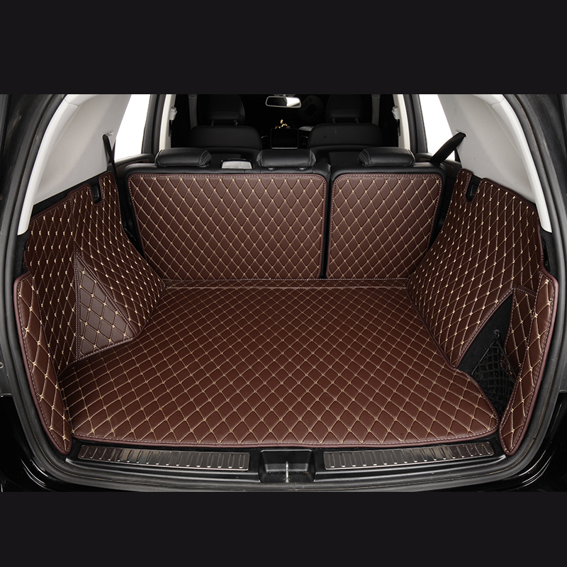 Handmade Leather Car Trunk Mat Cargo Liner Pad Carpet for Honda Fit Jazz 2009-13
