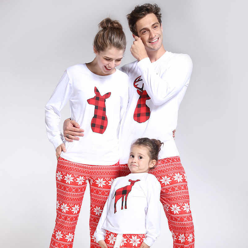 dd5962d89d 2018 Family Matching Clothes Mother Daughter Outfits Adult Kid Cartoon  Sleepwear Nightwear Pjs Family Christmas Pajamas