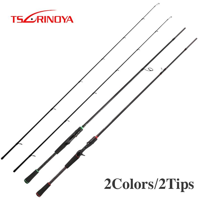 TSURINOYA Fishing Rod With 2 Tips PLEASURE V 2.13m 2.43m M