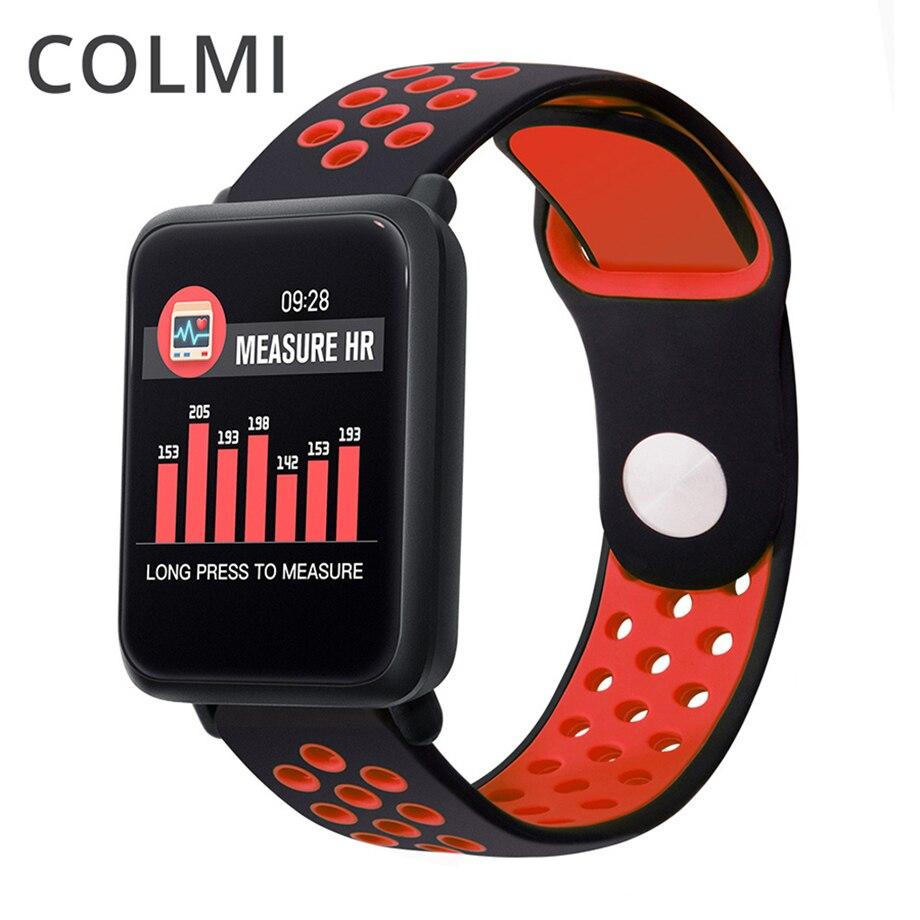Colme de M28 inteligente reloj de los hombres IP68 impermeable nadar Monitor de ritmo cardíaco rastreador de Fitness las mujeres Smartwatch para Android IOS