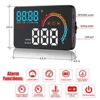 2019 New D2500 HUD OBD2+GPS Dual System Universal for All Cars Speedometer Display Head Up Display OBD Switch