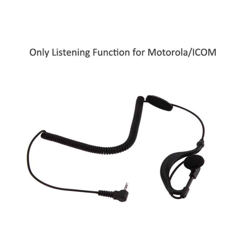 2.5 ミリメートルシングル耳キャンセステレオヘッドセットとマイク耳フックイヤホンとスパイラルモトローラ ICOM