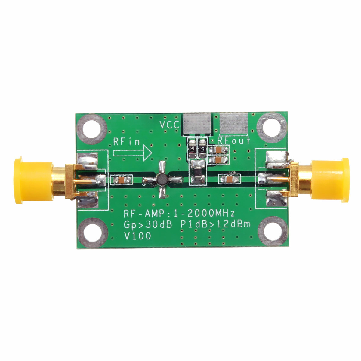 In Leory Ultra-high Frequency 1-2000mhz 2ghz 30db Rf Amplifier Board Broadband Gain Amplification Low Noise Module For Vhfvhf/uhf Novel Design;