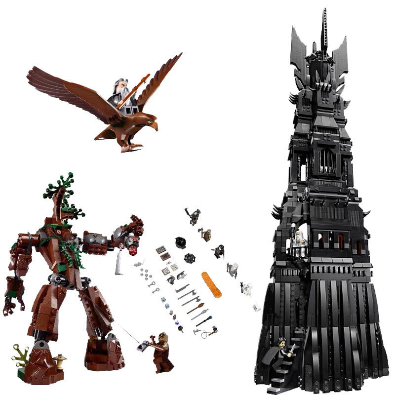 цена Lepin Lord of the Rings 16010 The Tower of Orthanc 2430Pcs Building Blocks Toys For Children Compatible for Legoing Hobbit 10237