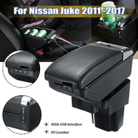 Car Console Center Armrest Storage Box Organizer Container With Cup Holder Ashtray Car Accessories For Nissan Juke 2011 2017