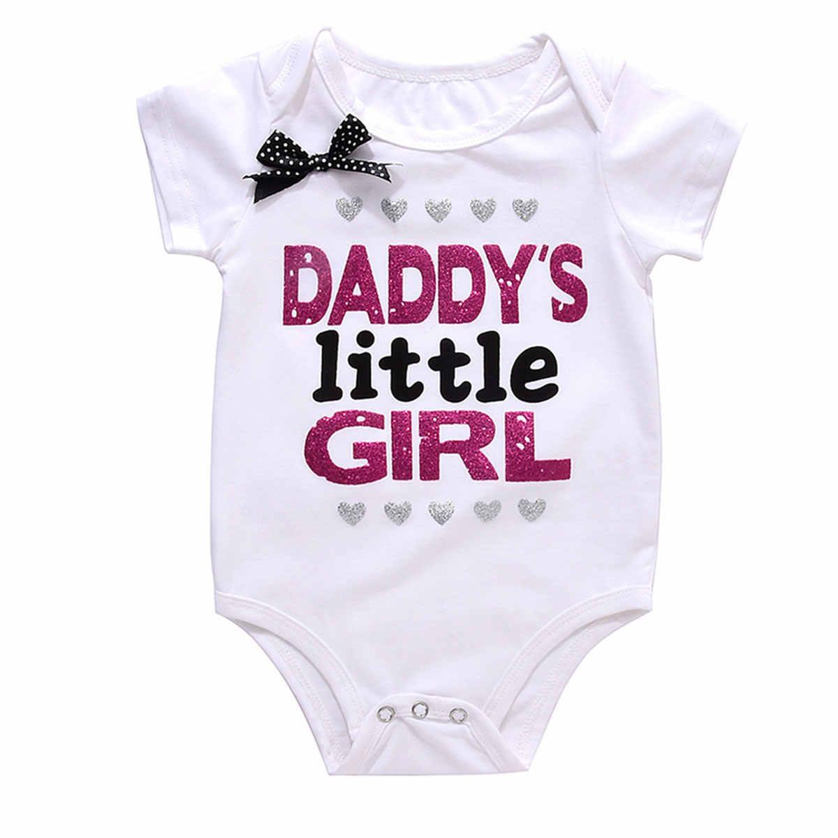 Mono de algodón para niñas y Chico con estampado de letras triangulares para el Día del Padre