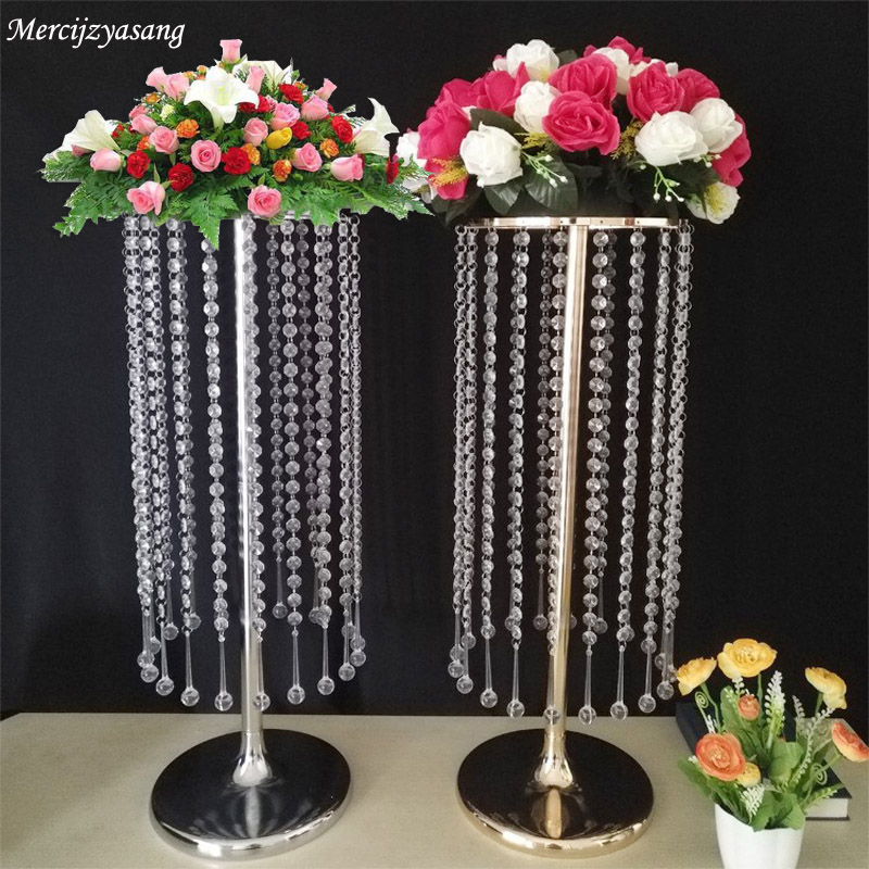 Precise 10pcs Wedding/table Centerpiece Flower Vase Floor Vases Stand Metal Road Lead Flower Rack For Wedding/party Decoration G041002 Festive & Party Supplies