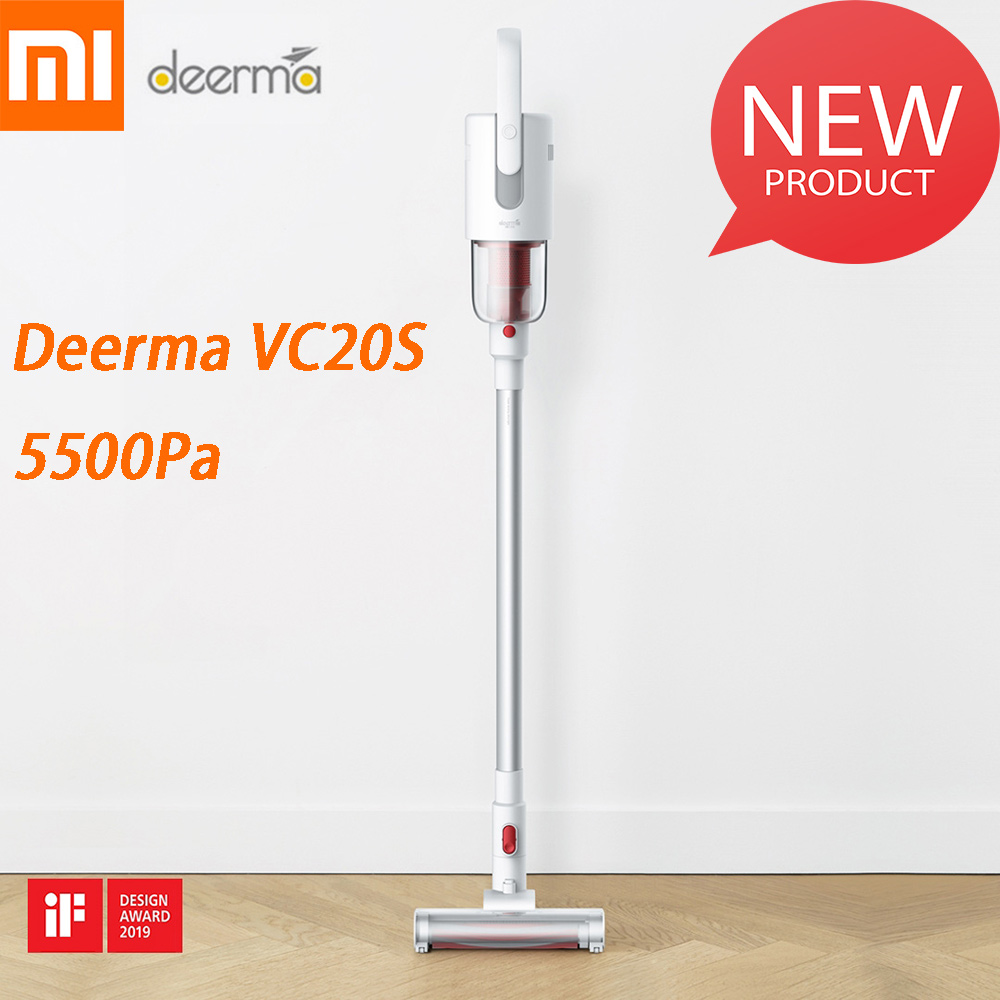 2019 new xiaomi deerma vc20s vacuum cleaner auto vertical handheld cordless stick aspirator. Black Bedroom Furniture Sets. Home Design Ideas