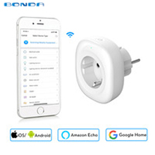 2018 New Mini Wifi Smart Socket EU Power Plug Mobile APP Remote Control Energy Monitor Works with Amazon Alexa Google Home