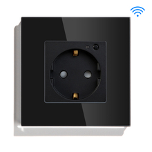 BSEED EU Standard Wifi Wall Socket Smart Square WIFI Supports For Tuya Google Home White Black Golden Colors