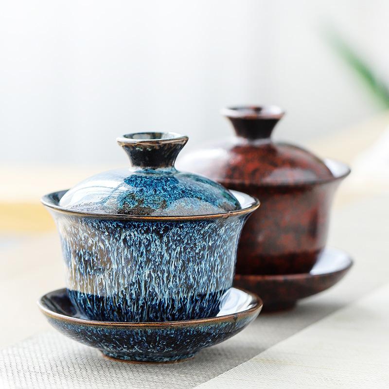 1 Pcs Chinese Kung Fu Gaiwan Set Ceramic Teaware Sets Tea Set Ceramic Teapot Teaset Gaiwan Set Tea Cups Of Tea Ceremony