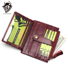 RFID Blocking Genuine Leather Small Women Card Bag Casual Credit Card Holder Thin Men Wallet Card Package Money Bag Coin Purse цена и фото