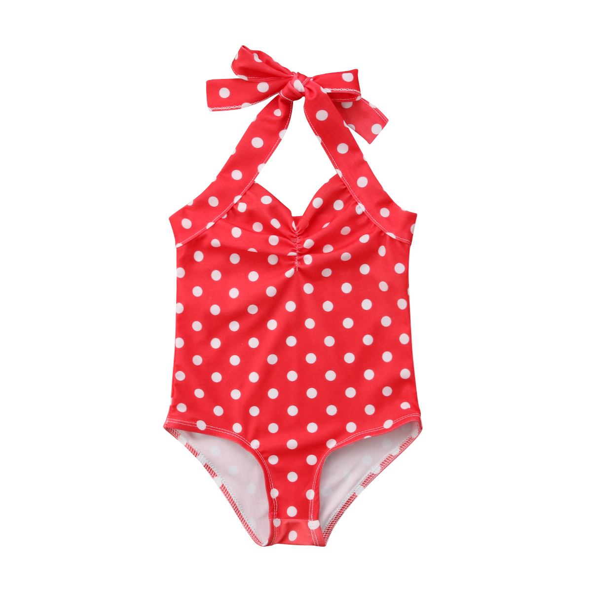 0-3Y Cute Newborn Toddler Kids Baby Girl Sleeveless Backless Polka Dot Strap Halter Swimming One Pieces Bathing Suit Swimsuit | healthy feet socks