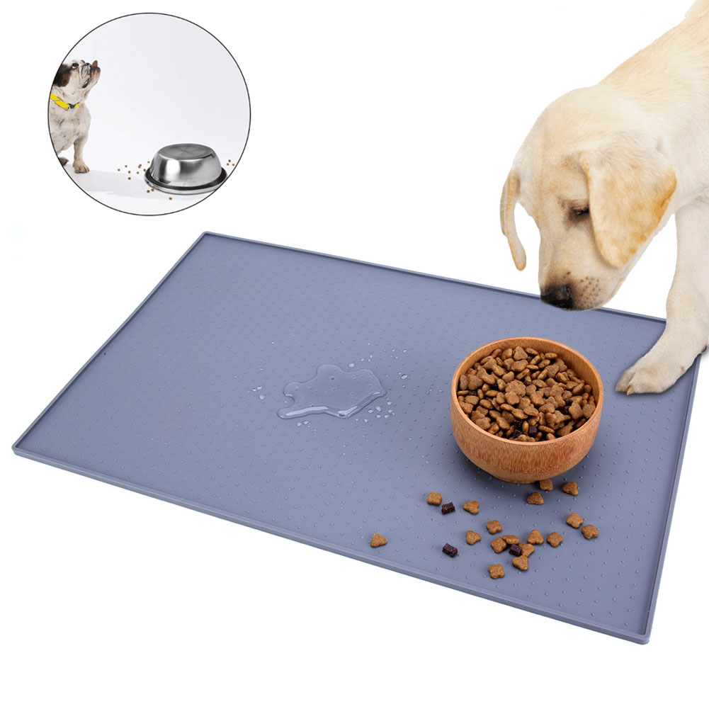 1PC Waterproof Pet Mat for Dog Cat Silicone Pet Food Pad Pet Bowl Drinking Mat Dog Feeding Placemat Easy Washing|Houses  Kennels & Pens| |  - title=