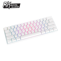 Royal Kludge RK61 Ergonomic Keyboard Bluetooth Dual Mode 60%RGB Light Mechanical Gaming Keyboardfor Laptop Tablet