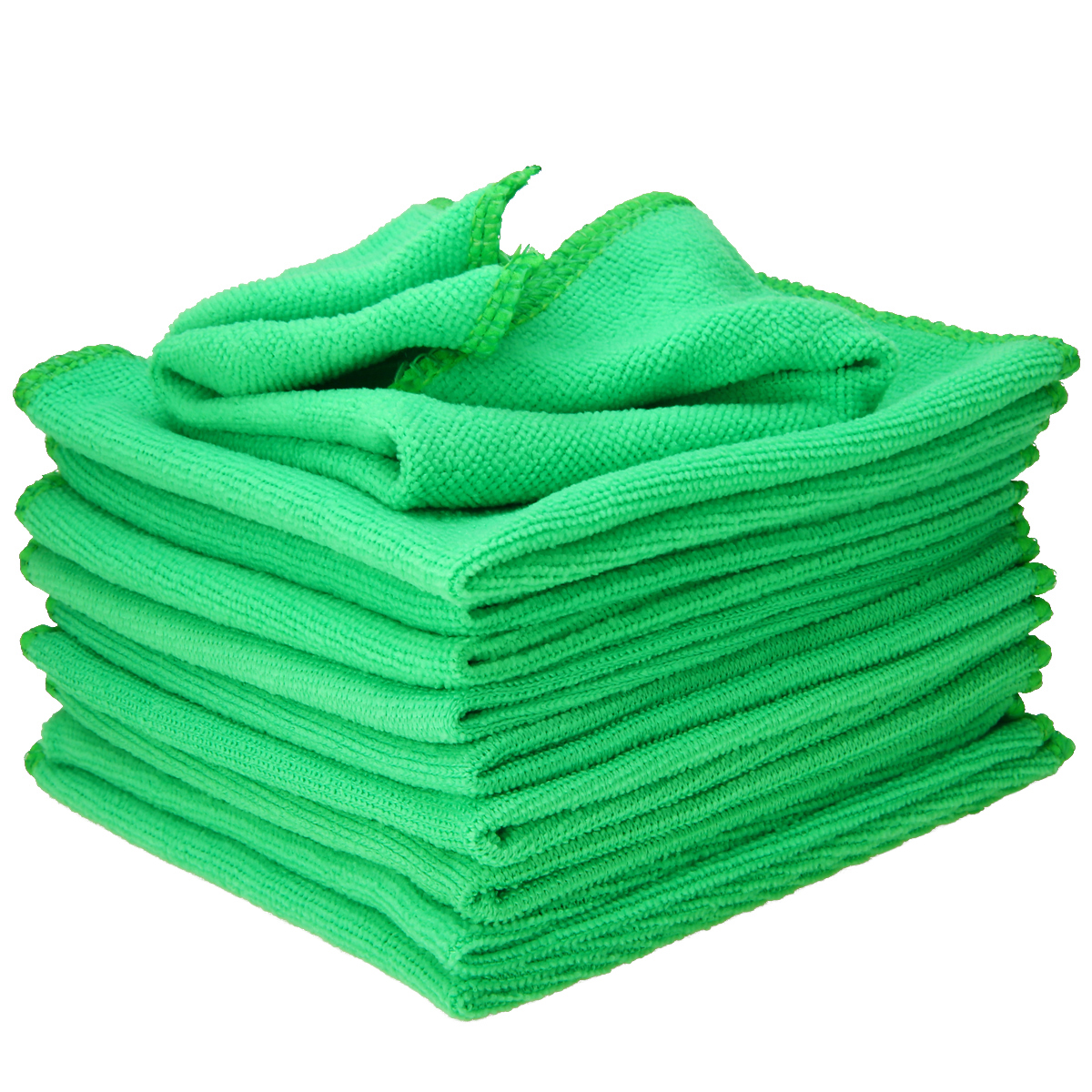 Image 4 - Mayitr 1Set 10X Green Microfiber Cleaning Auto Car Detailing Soft Microfiber Cloths Wash Towel Duster Home Clean 25*25CM-in Sponges, Cloths & Brushes from Automobiles & Motorcycles