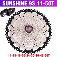 SUNSHINE SZ 9 Speed Cassette 11 50T Mountainbike Breed Verhouding Mtb Fiets 9 S Freewheel Compatibel Met M430 m4000 M590 Vrijloop|Fiets cassette|   -