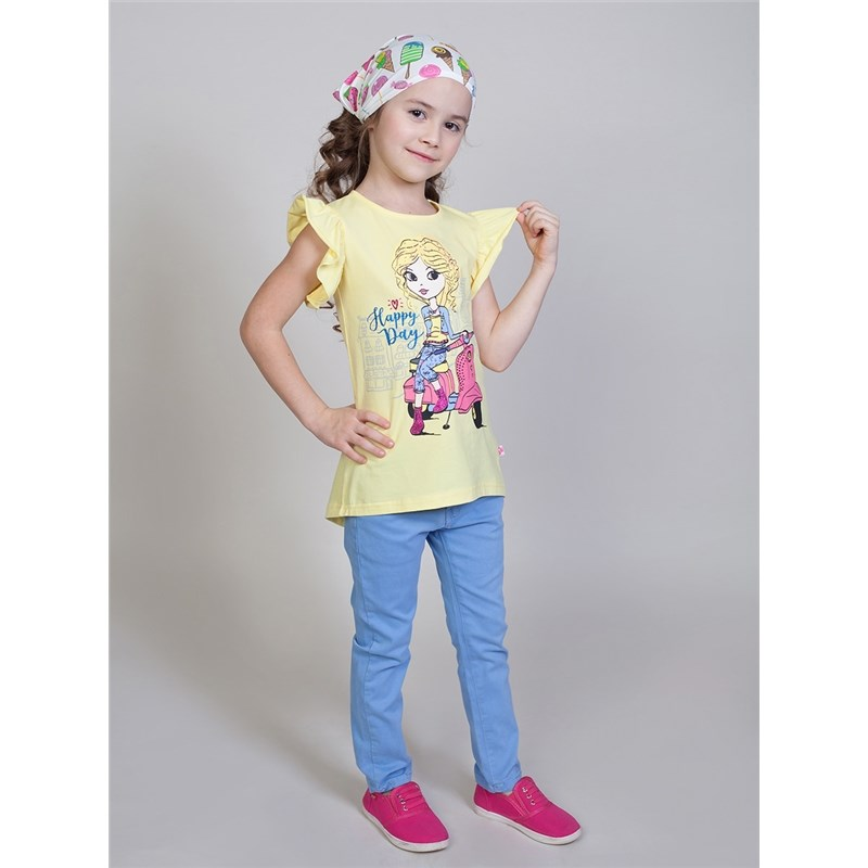 T-Shirts Sweet Berry T-shirt knitted for girls children clothing kids outfits letter pattern t shirts in white