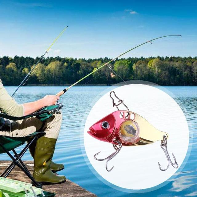 LED Fishing Lure Treble Hook Electronic Bait Fish Lure Light Fishing Bait Metal Lure Flash Flashing Lamp Fishing Accessories 1