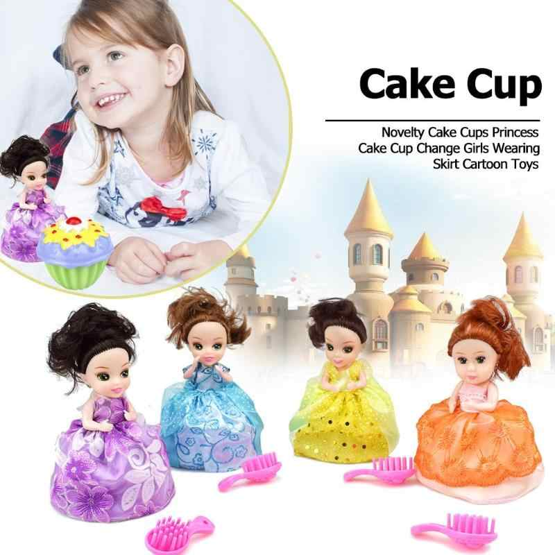1 Pc Mini Beautiful Cake Doll Toy Surprise Cupcake Princess Doll Toys for Children Kid Transformed Scented Girls Funny Game Gift