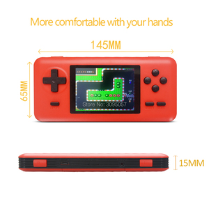 Image 5 - WOLSEN 8 Bit Retro Station Pocket Handheld Game Built in 586 games 3.0 Inch Video Game Console Support Micro TF card Load game