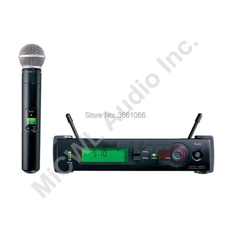Tout nouveau système de Microphone Vocal portable sans fil MiCWL slx24 slx24/beta58 sm beta 58 KTV