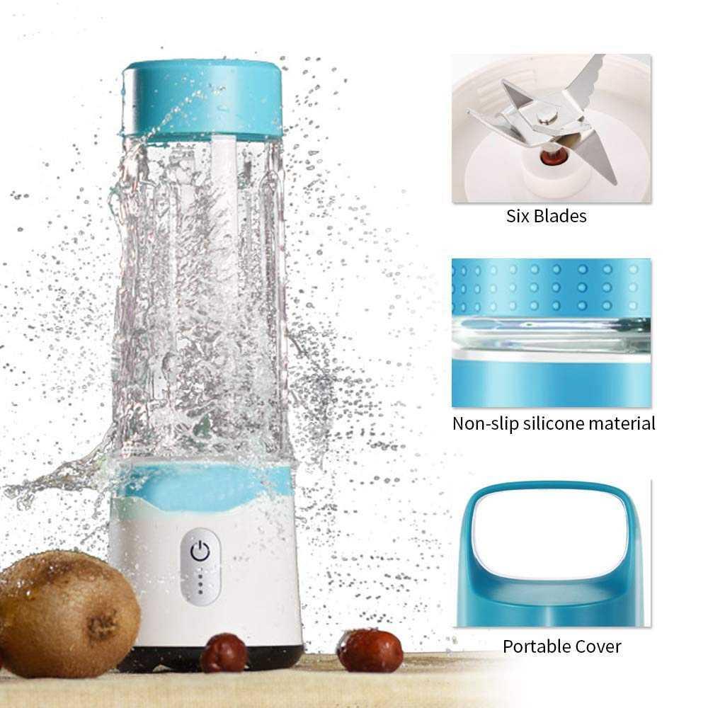 Pessoal Liquidificador, Liquidificador Suco de Suco De Liquidificador Liquidificador Portátil Usb Recarregável Viagens Para Shakes E Smoothies Poderosa Seis Bl