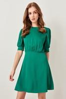 Trendyol Green Classic Dress TWOSS19XM0047