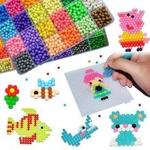 6000 pcs DIY Magic Beads Animal Molds Hand Making 3D Puzzle Kids Educational beads Toys for Children Spell Replenish цена 2017
