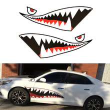 150x50cm Car Sticker Shark Mouth Tooth Teeth Reflective Vinyl Refacing Exterior Decal Side Door Styling