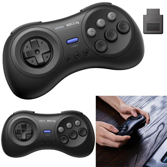 EastVita 8BitDo M30 2.4G Bluetooth Gamepad for Sega Genesis Mega Drive Style for for Nintend Switch Android Xiaomi smartphones