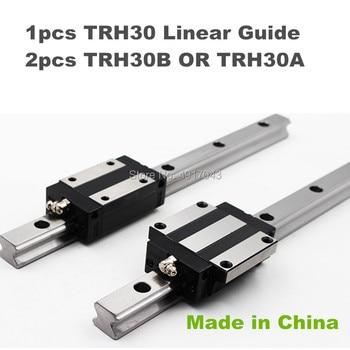Precision rail 1PC TRH30 Linear guide + 2PCS TRH30B Block or TRH30A Flange Block L 200-600 mm for CNC parts