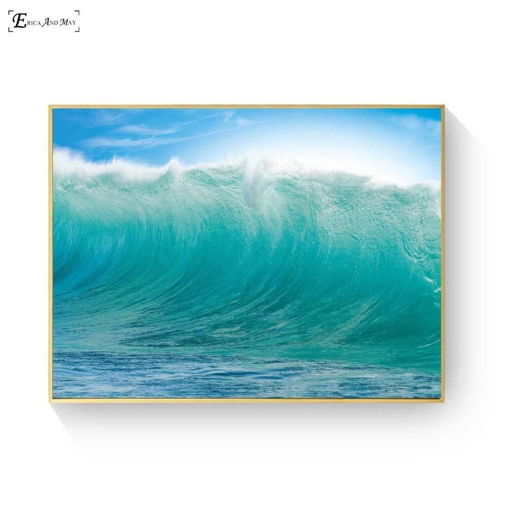 الشمال البحر موجات زيبرا جسر قماش رسمة مطبوعة جدار الصور ملصقات تزيين المنزل و يطبع الفن لغرفة المعيشة الديكور