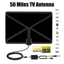 цена на HD Digital TV Antenna Long 80 Miles Range Support For 4K 1080P HDTV Amplifier Signal Booster Antenna Signal Amplifier Adapter