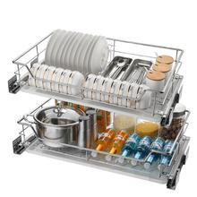 Cestas Para Colgar En La Ducha Pantries Almacenaje Armario Platos Stainless Steel Rack Cozinha Cuisine Kitchen Cabinet Basket