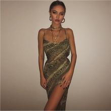 Women Slash Neck Chiffon Maxi Dress Transparent  Sexy Spaghetti Strap Backless Elegant Summer Beach Club Long